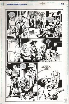 Batman: Harley Quinn One-Shot p.34 Original Art - 1st App of Harley Quinn in DCU