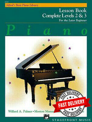 Alfred's Basic Piano Lesson Book  Complete Level 2 & 3 - For The Later Beginner