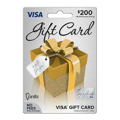 $200 VISA Card - No FEES - LOADED READY TO USE - Free Shipping Priority USPS