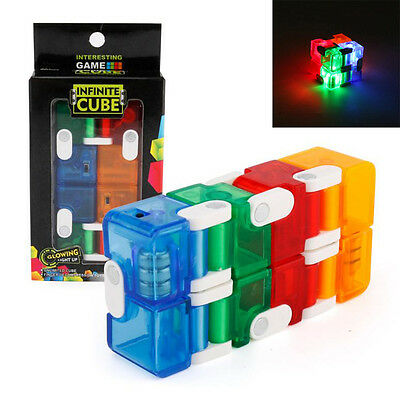 LED Infinity Cube For Stress Relief Fidget Anti Anxiety Stress Funny EDC Toys