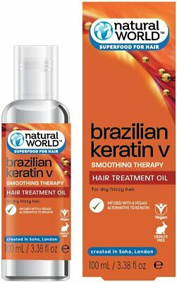 Natural World Brazilian Keratin Oil Smoothing Therapy Hair Treatment 100 / 25ml
