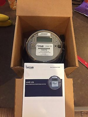 NEW Locus LGate 120 Single-Phase Solar Revenue Grade Monitoring W/ Cellular Card