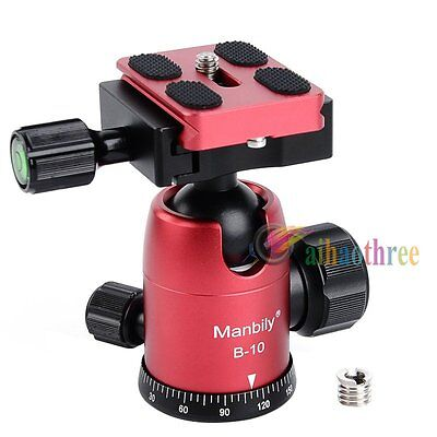Manbily B-10 Ball Head Aluminum Alloy Tripod Head With 1/4'' QR Plate For Camera