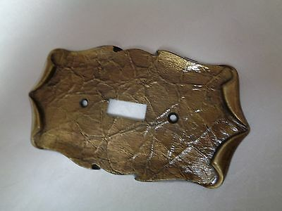 Vintage Amerock Carriage House Antique Brass Single Switchplate Cover