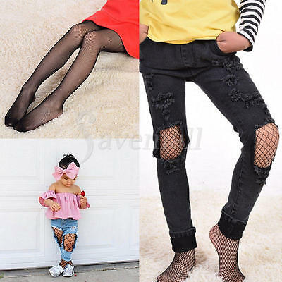 Kids Baby Girls Black Tights 3 Sizes Mesh Fishnet Pantyhose Stockings Socks