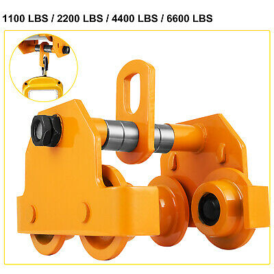 0.5/1/2/3T Push Beam Trolley Pre-Lubricated Hoist Overhead Popular Great Novel