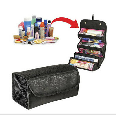 1*Wine Red Portable Women Multifunction Travel Cosmetic Bag Makeup Toiletry Case