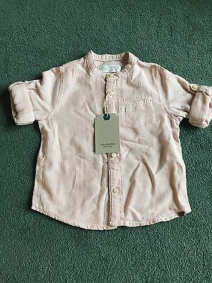 Baby Boys Red Stripe Zara Shirt BNWT Size 12-18 Months