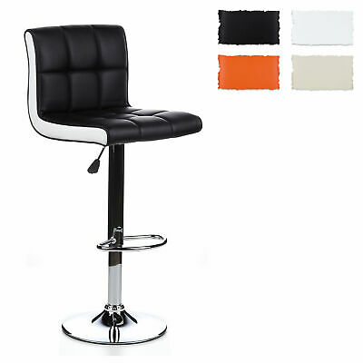 hjh OFFICE Barhocker Tresenhocker Hocker mit Lehne Stuhl Bar LOUNGER DUO 2er Set