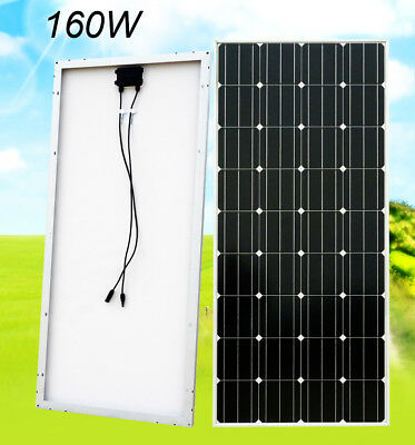 160W Mono Solar Panel PV Solar Module Travelling Camping Off Grid Caravan Home