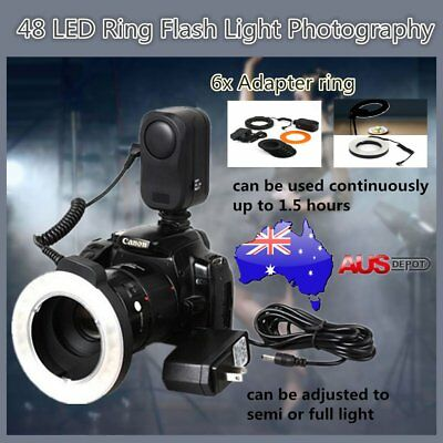 48 LED Ring Flash Light Photography For Canon For Nikon For Sigma Camera Len JK