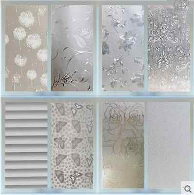 Frosted Cover Glass Window Floral Flower Sticker Film Office Door NEW 45x200cm