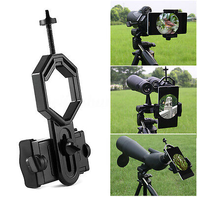 US! Telescope Spotting Scope Microscope Mount Holder Mobile Phone Camera Adapter