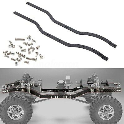 New 2X Carbon Fiber Chassis Frame Rails set For Axial SCX10 1/10 RC Crawler Car