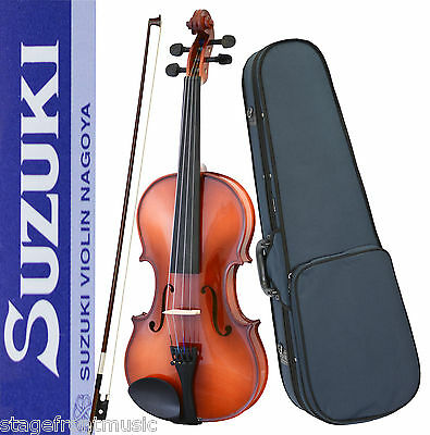 Suzuki Nagoya *geniune* Fs-10 Full Size Solid Top Violin Package With Free Setup