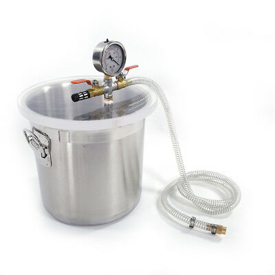 3 Gallon New Vacuum Chamber Stainless Steel Degassing Urethanes Silicone Epoxies