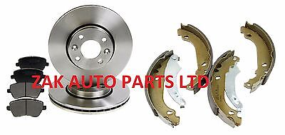 Renault Modus 04-12 1.2 1.4 1.5 dci 1.6 Front Brake Discs and Pads OEM Quality