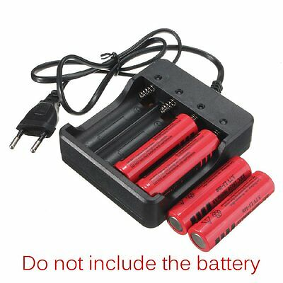 4-Slot Smart Battery Charger For 18650 Li-ion Rechargeable Battery LED indicator