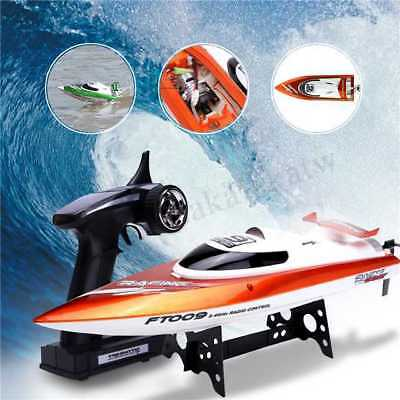 High Speed Racing 2.4G 4CH RC Boat Water Remote Control Orange/Green FT009