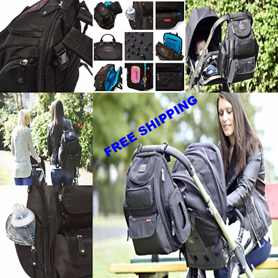 NEW Awesome Bag Nation Diaper Backpack W/ Stroller Straps Changing Pad ORIGINAL
