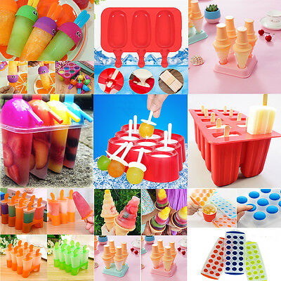 8/10 Cell Frozen Ice Cream Pop Mold Popsicle Maker Lolly Mould Tray Pan DIY