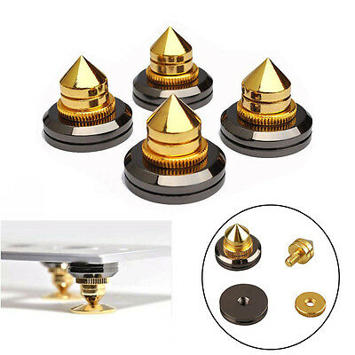 4 Sets M6 Speaker Spike Isolation Stand Cone Base Pads Stick-on Audio Amplifier