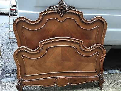 Antique Walnut French Bed Frame Vintage Shabby Chic