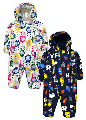 Kids Babygrow New Boys Girls Baby Outdoor Pram Snow Suit Ages 0 - 18 Months