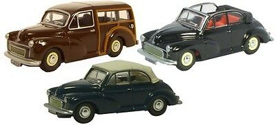 Bnib Oo Gauge Oxford 1:76 76Set07B Triple Morris Minor Set