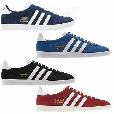 adidas GAZELLE OG TRAINERS SNEAKERS ORIGINALS SUEDE RED BLUE BLACK NAVY GOLD MEN