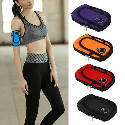 Sports Cycling Jogging Gym Armband Arm Band Holder Bag For Mobile Phones UK