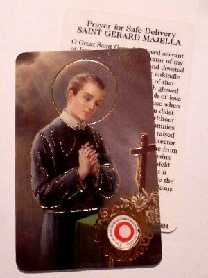St Gerard ~ Prayer Card & Relic ~ PACK OF TWO