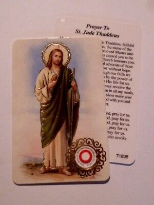 St Jude ~ Prayer Card & Relic ~ PACK OF TWO