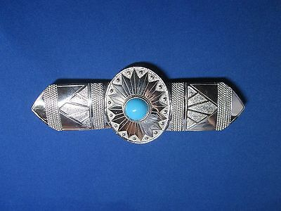 Ladies Silver Conch turquoise belt buckle Western Style