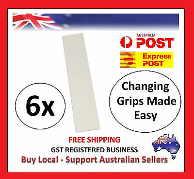 6 x Pre-Cut 22x5cm GOLF CLUB GRIP TAPE STRIP Double Sided Tapes Change Regrip