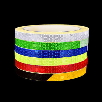 Fluorescent MTB Bike Bicycle  Motorcycle Reflective Stickers Strip Tape YYO