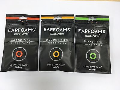 EARFOAMS® - Original replacement memory foam tips for ISOLATE® Ear Protectors