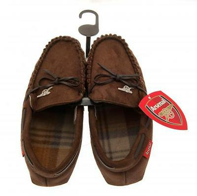 Arsenal FC Mens Moccasins / Slippers Official Arsenal Accessories