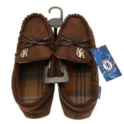 Chelsea FC Mens Moccasins / Slippers Official Chelsea Accessories