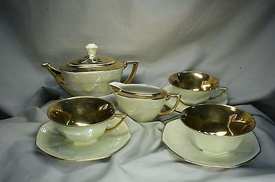Conjunto de Té. Art decó. Limoges. Francia Tea Set. Art Deco. Limoges. France