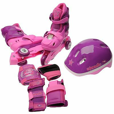 Cosmic Childrens Girls Skate Shoes and Protection Pack Tri Line
