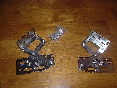 Pair Of 2 Lid Hinges 50 Degree For Chest Seat Trunks Boxes Locks Ea Add Ships $1