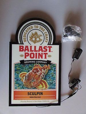 NEW Ballast Point Sculpin Craft  LED beer Bar Sign man cave Neo Neon opti Light