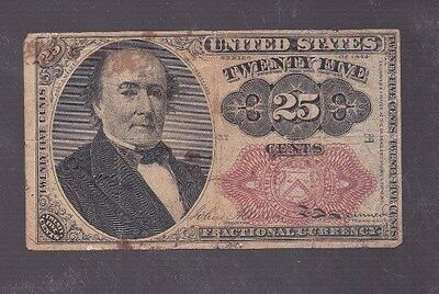 Us Fractional Currency- 25 Cents  1874