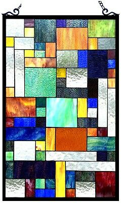 Stained Glass Panel for Window Tiffany Style Suncatchers Mission Craftsman Deco