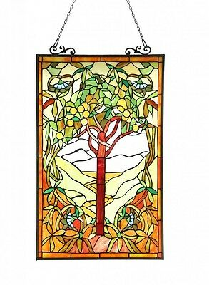 Stained Glass Panel for Window Tiffany Style Suncatchers Tree of Life Craftsman
