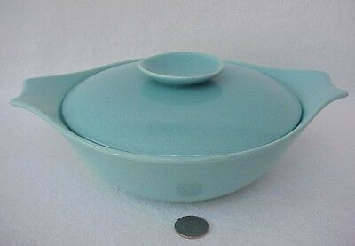 Vintage California Monterey Turquoise Speckled Vegetable Casserole Dish
