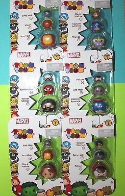 Large Lot of 18 TSUM TSUM Marvel Figures All From Series 1 NEW with No Repeats