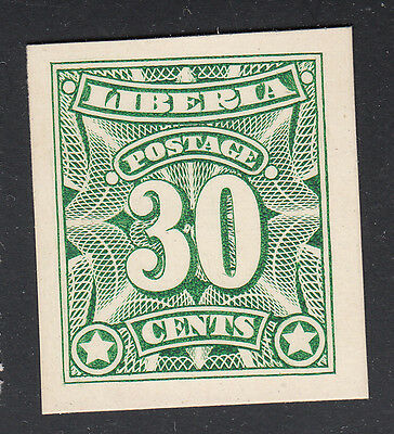 Liberia # 108 Color Trial GREEN On Card
