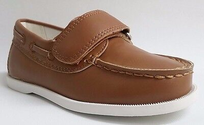 NEW Auston Kids Toddler Boys Faux Suede Leather Stitch Boat Dress Casual Shoes
